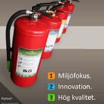 50-70 procent av de svenska hemmen saknar brandsläckare!