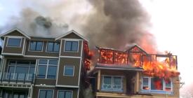 Otillräckligt brandskydd – Brand angrep fem hus och totalförstörde fyra på 45 minuter