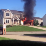 Villabrand startade efter att ägaren dumpat aska i en soptunna i garaget