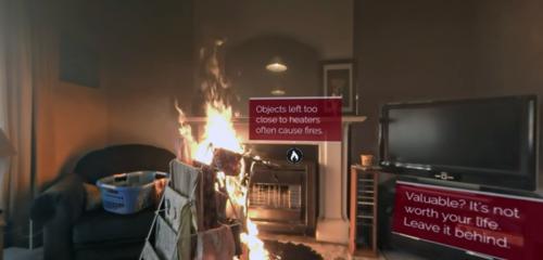 Se hur din lägenhet blir ett eldkaos på 60 sekunder i denna 360-video