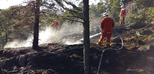 Glödbrand spred sig under marken – Marken fattade eld dagen efter
