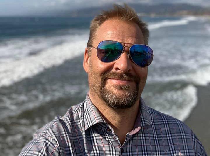 Mikael Höglind, 2019, Santa Monica, USA. Foto: selfie
